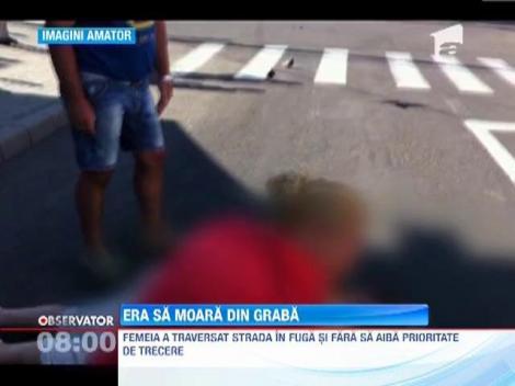 O femeie a fost lovita pe o trecere de pietoni din Baia Mare
