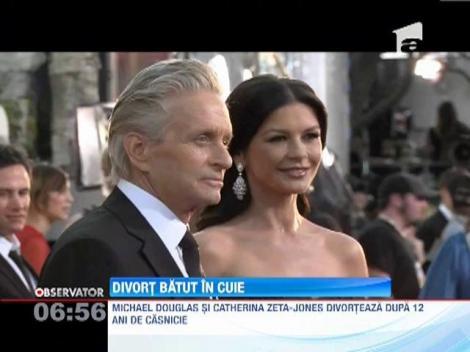 Michael Douglas a semnat actele care oficiaza divortul de Catherine Zeta-Jones