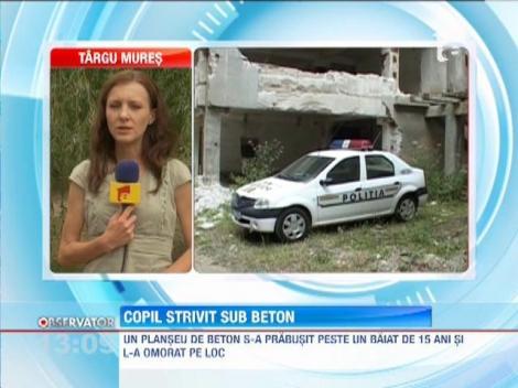 Baia Mare: Copil strivit sub un planseu de beton
