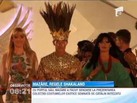 Radu Mazare, costumat in straiele regelui african Shakaland