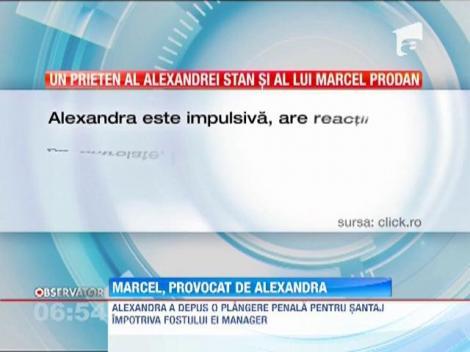 Alexandra Stan l-ar fi lovit prima pe impresarul Marcel Prodan
