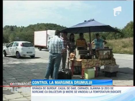 Inspectorii de la Protectia Consumatorului, control la marginea drumului