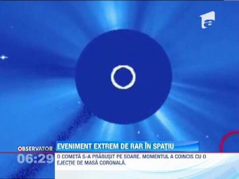 O cometa s-a prabusit pe Soare. Momentul a coincis cu o ejectie de masa coronala