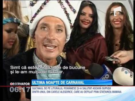 Radu Mazare a fost Suleyman Magnificul, in ultima noapte de carnaval de la Mamaia