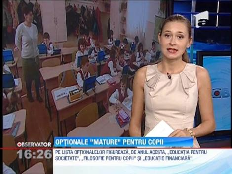 Ministerul Educatiei a suplimentat lista cu disciplinele optionale pentru clasele primare