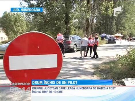 Ginerele lui Vasile Blaga a inchis un drum judetean din Harghita ca sa se poata antrena pentru cursele de raliu