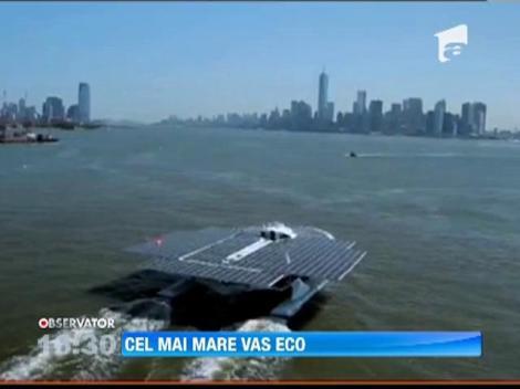 Cea mai mare nava ecologica a ajuns cu bine la destinatie