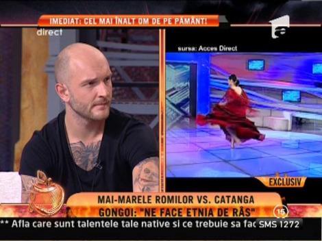 Cornelia Catanga, acuzata ca se expune indecent la televizor de vicepresedintele international al romilor