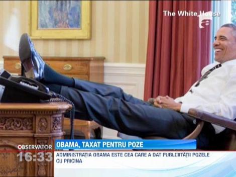 """Ipostaza de presedinte """"cool"""" nu i-a iesit! Barack Obama, taxat pentru pozele cu picioarele pe masa"""