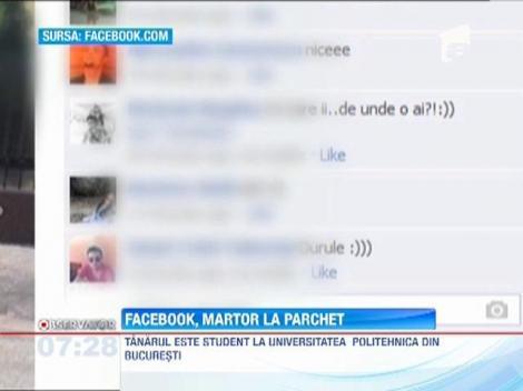Facebook, martor la Parchet