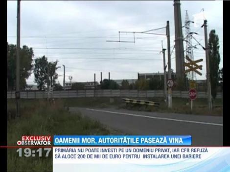 CFR refuza instalarea unei bariere in locul unde 11 oameni au murit striviti de tren