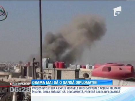 Presedintele Barack Obama a expus motivele unei eventuale interventii militare in Siria