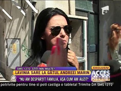 """Lavinia Parva: """"Nu ma intereseaza afirmatiile Andreei Marin! Nu am despartit familia"""""""