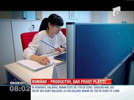 Romanii sunt productivi, dar prost platiti