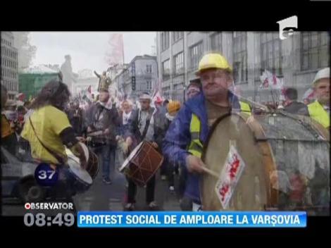 Protest social de amploare la Varsovia