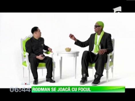 Dennis Rodman a filmat o reclama cu Kim Jong-un