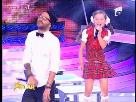 Micuta Jennifer Lopez, Denisa Anastasiei, a cantat alaturi de Matteo pe scena Next Star