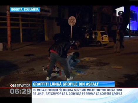 Soselele din Columbia au fost umplute de graffiti
