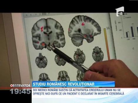 Doi medici romani sustin ca activitatea creierului uman nu se opreste nici dupa ce un pacient e declarat in moarte cerebrala