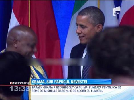VIDEO! Obama a recunoscut ca ii e frica de sotia sa