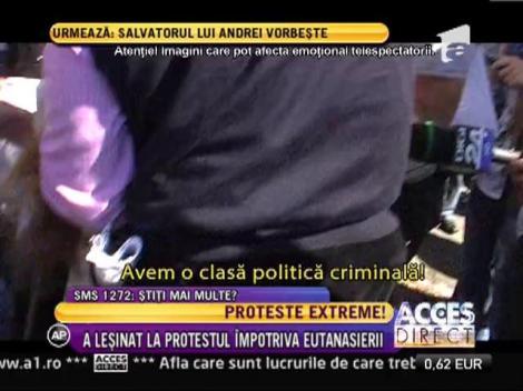 O femeie a lesinat la protestul impotriva eutanasierii!