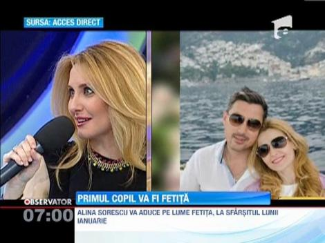 Alina Sorescu va fi mama de fetita