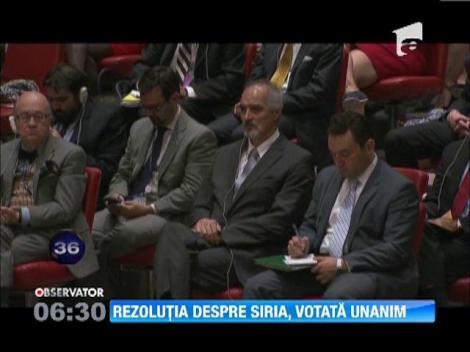 S-a decis! Rezolutie privind distrugerea armelor chimice ale Siriei