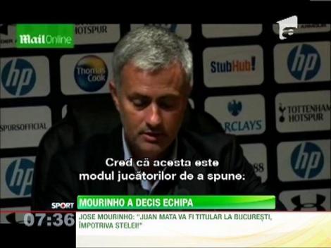 Jose Mourinho a anuntat echipa pentru meciul cu Steaua