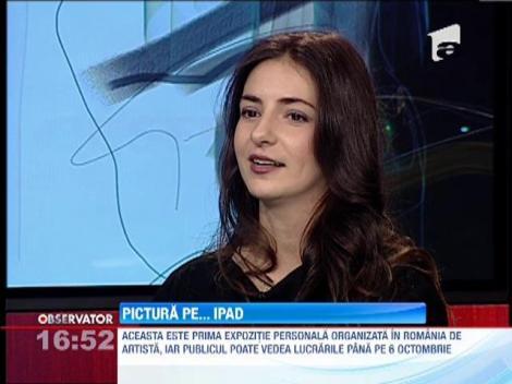 Pictura pe iPad expusa de Alina Teodorescu
