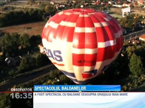 Spectacol cu baloane deasupra orasului Baia Mare