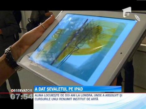 O pictorita romanca a schimbat sevaletul cu iPad-ul
