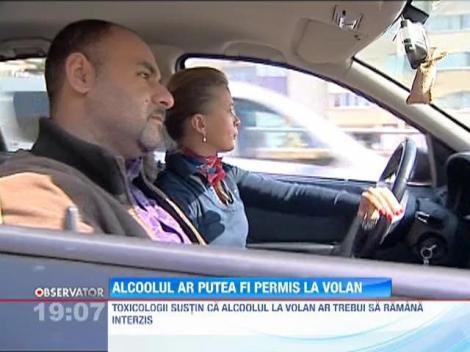 Consumul de alcool ar putea fi permis la volan