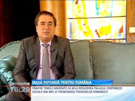 Oamenii de afaceri din Romania se intalnesc cu oficialii romani sa discute problemele tarii