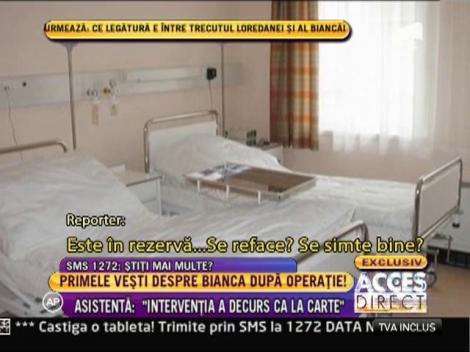 """Primele vesti despre Bianca! Asistenta medicala: """"Intervenia a decurs ca la carte"""""""