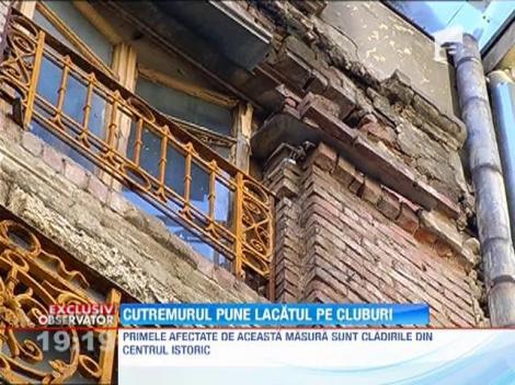 Cutremurul strica distractia! Barurile care functioneaza in cladirile cu risc seismic din Centrul Vechi al Bucurestiului ar putea fi inchise