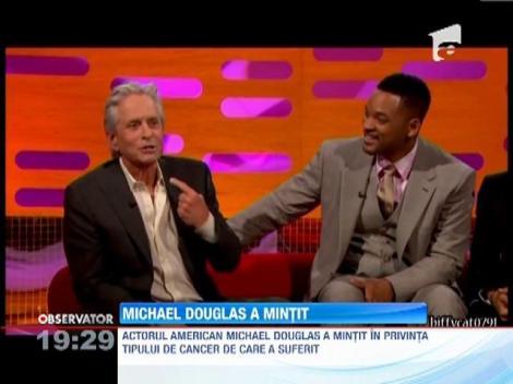 Michael Douglas a mintit in privinta bolii sale, de teama de a nu pierde un rol