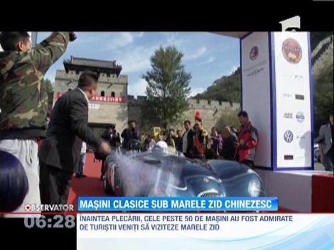Mai multe masini clasice au fost expuse la Marele Zid Chinezesc