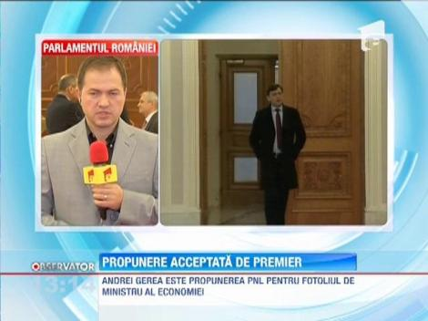 Andrei Gerea, propunerea liberalilor pentru postul de ministru al Economiei