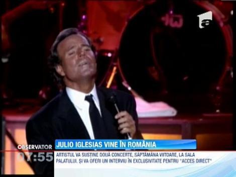 Julio Iglesias, din nou, in Romania! Artistul va sustine doua concerte la Sala Palatului