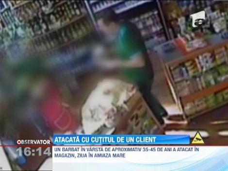 Vanzatoare atacata cu un cutit de un client