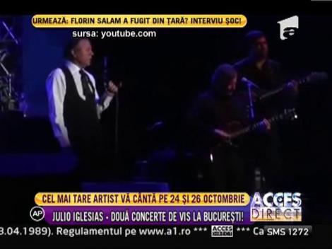 Julio Iglesias, doua concerte la Bucuresti