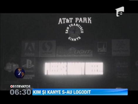 Kim Kardashian si Kanye West s-au logodit