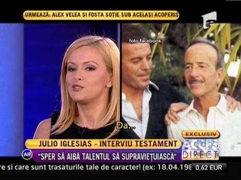 """EXCLUSIV! Julio Iglesias: """"Stiu ca mi se apropie sfarsitul si ma grabesc sa daruiesc cat mai mult!"""""""