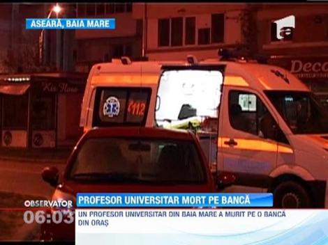Un profesor universitar din Baia Mare a murit pe o banca din cauza alcoolului