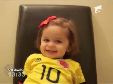 """O fetita de 2 ani ii ureaza un """"La multi ani!"""" adorabil tatalui ei"""