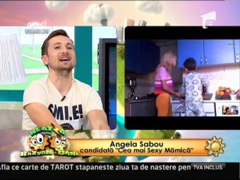 "Angela Sabou, ""Cea mai sexy mamica"", pana si in bucatarie"