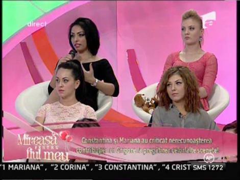 Constantina si Mariana au criticat nerecunoasterea contributiei lui Grigore la pregatirea celorlalte scenete!