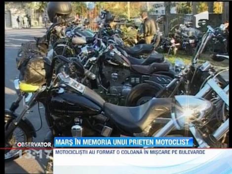 Marş în memoria unui prieten motociclist
