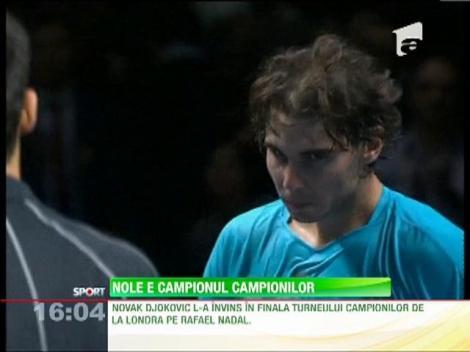 Novak Djokovici l-a învins în finala Turneului Campionilor de la Londra pe Rafael Nadal