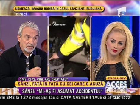 """Sânziana Buruiană: """"Mi-aş fi asumat accidentul, dacă eu eram la volan"""""""